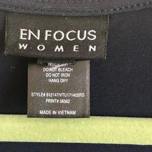 Enfocus Studio Dresses - Enfocus 2X Navy Zigzag Maxi Dress built on belt